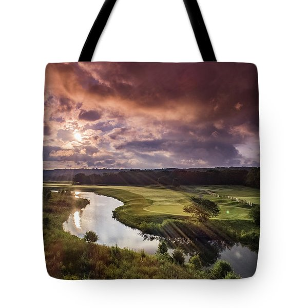 Sunrise At The Course Tote Bag