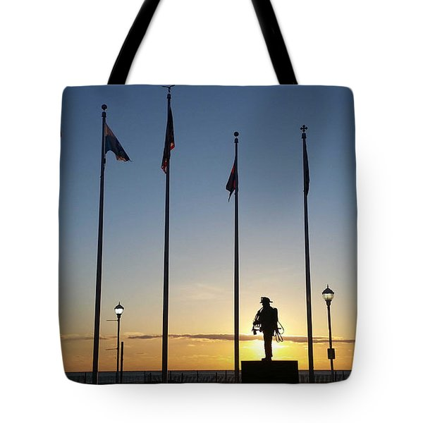 Sunrise At The Firefighters Memorial Tote Bag