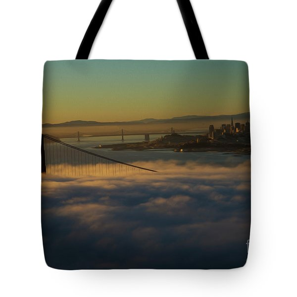 Tote Bag featuring the photograph Sunrise At The Golden Gate by David Bearden