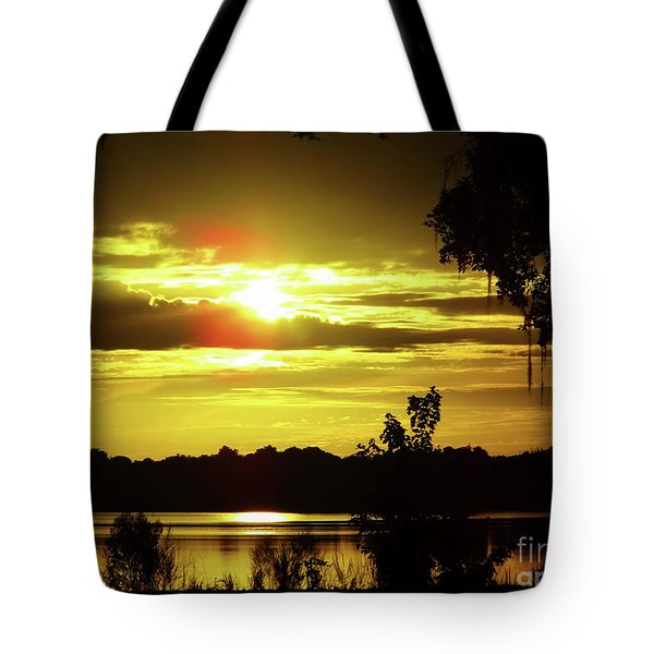 Sunrise At The Lake Tote Bag