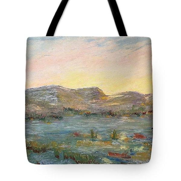 Sunrise At The Pond Tote Bag