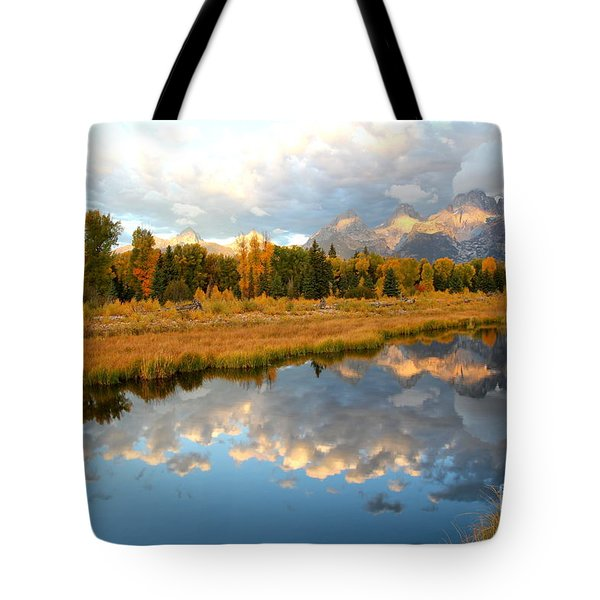 Sunrise At The Tetons Tote Bag
