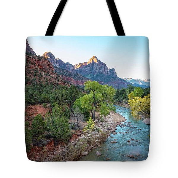 Sunrise At The Watchman - Zion National Park - Utah Tote Bag