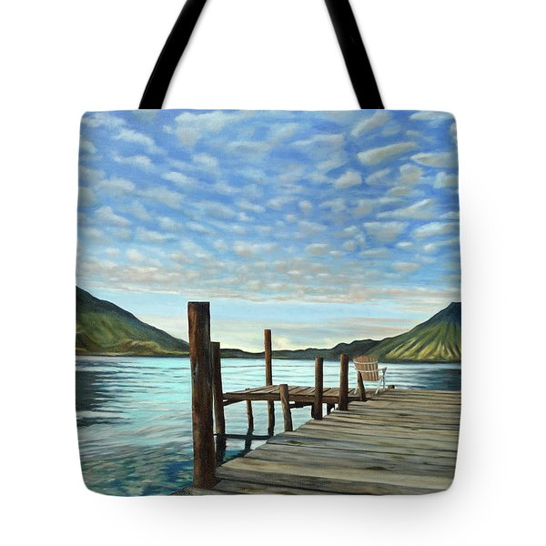 Sunrise At The Water Tote Bag