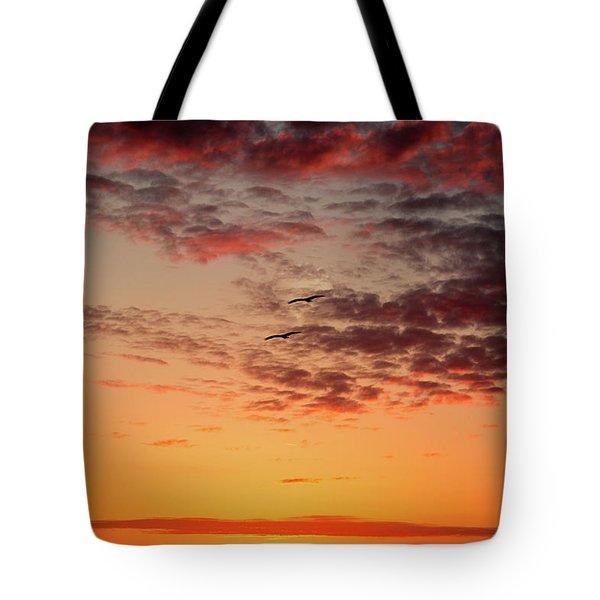 Sunrise At Treasure Island Tote Bag