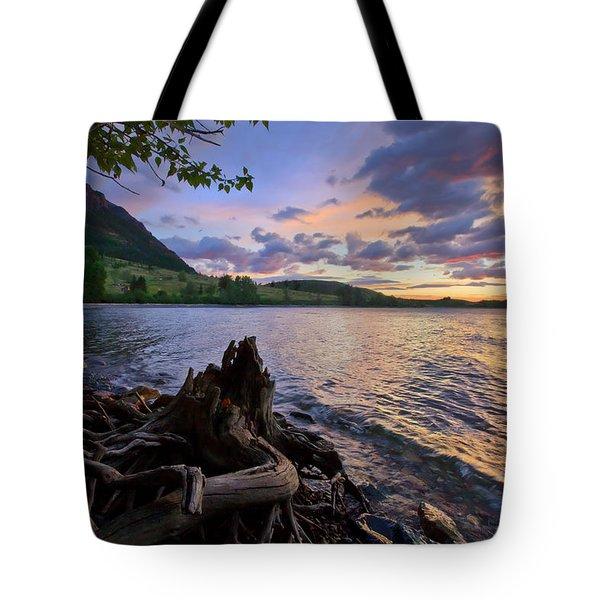 Sunrise At Waterton Lakes Tote Bag