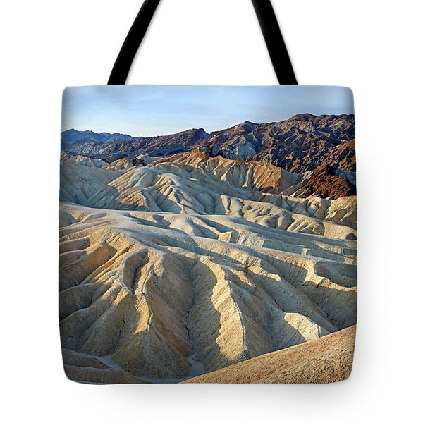 Sunrise At Zabriskie Point Tote Bag