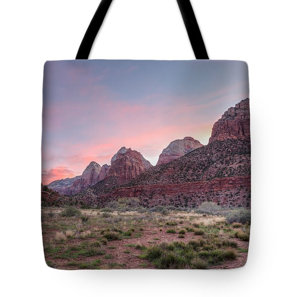 Sunrise At Zion Tote Bag