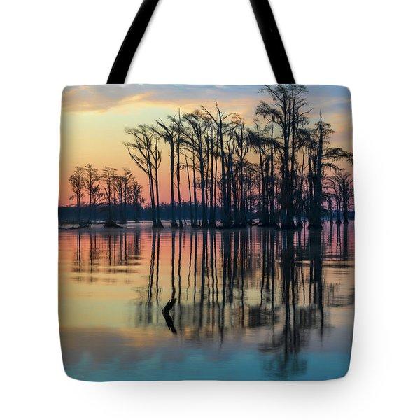 Sunrise, Bald Cypress Of Nc  Tote Bag