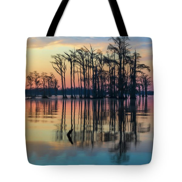 Sunrise, Bald Cypress Of Nc  Tote Bag