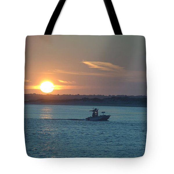 Sunrise Bassing Tote Bag