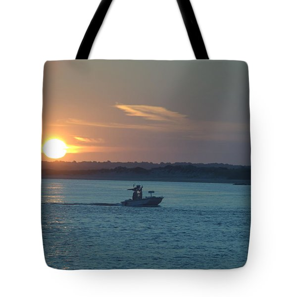 Sunrise Bassing Tote Bag