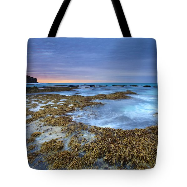 Sunrise Beneath The Storm Tote Bag by Mike  Dawson