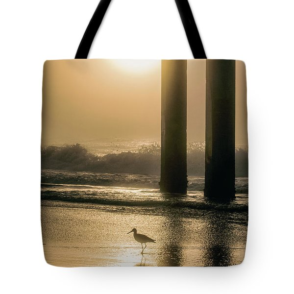 Tote Bag featuring the photograph Sunrise Bird At Beach  by John McGraw