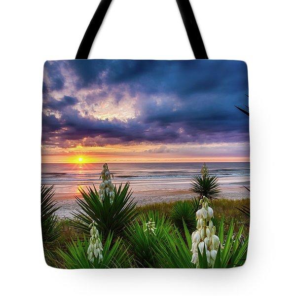 Sunrise Blooms Tote Bag