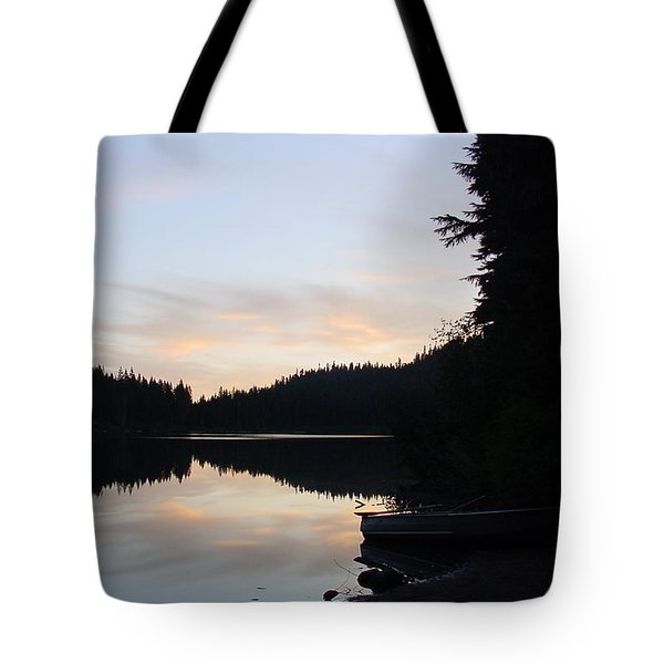 Sunrise Boat  Tote Bag
