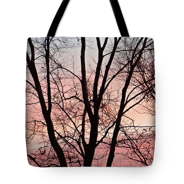Sunrise Branches Tote Bag