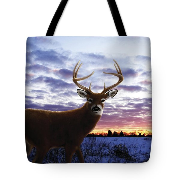 Sunrise Buck Tote Bag by Barbara Hymer