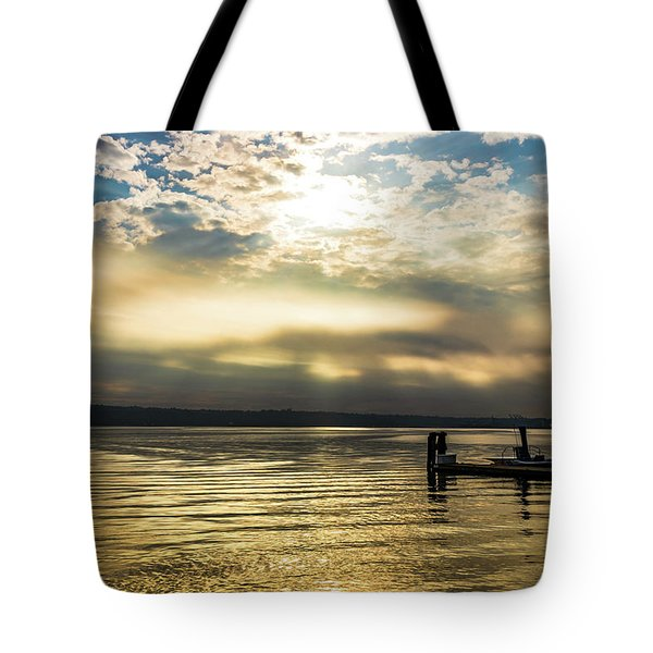 Sunrise Burning Tote Bag