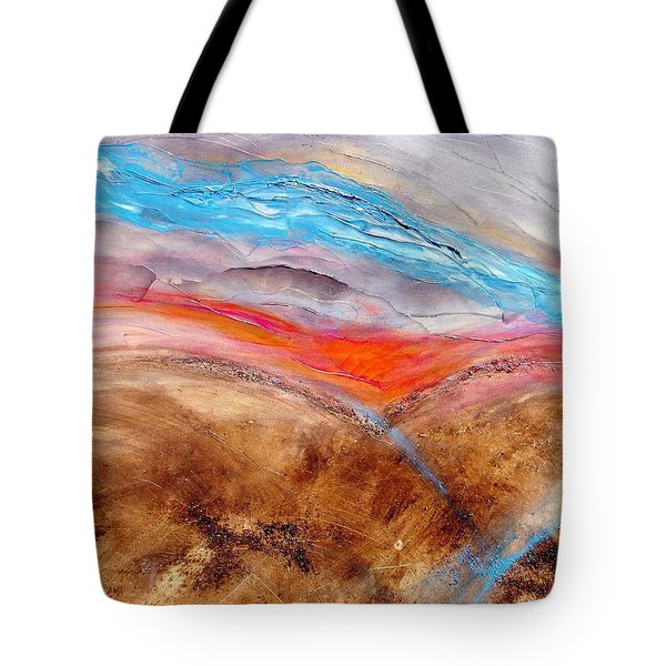 Tote Bag featuring the painting Sunrise by Carolyn Repka