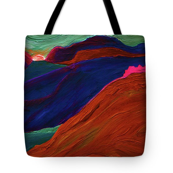 Tote Bag featuring the painting Sunrise Castle 2  by First Star Art