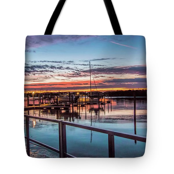 Sunrise Christmas Morning Tote Bag