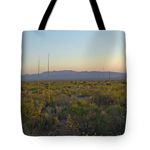 Sunrise Christmas Mountains Tote Bag