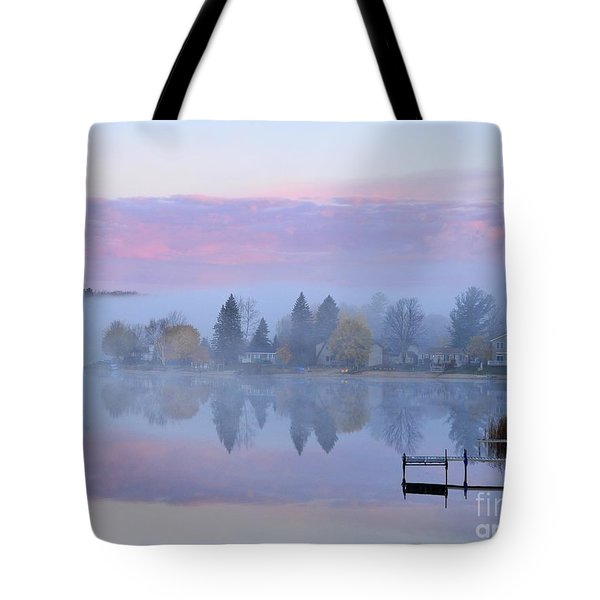 Sunrise Comes To Stoneledge Lake Tote Bag