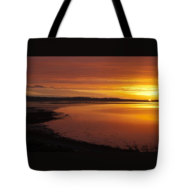 Sunrise Dornoch Firth Scotland Tote Bag by Sally Ross