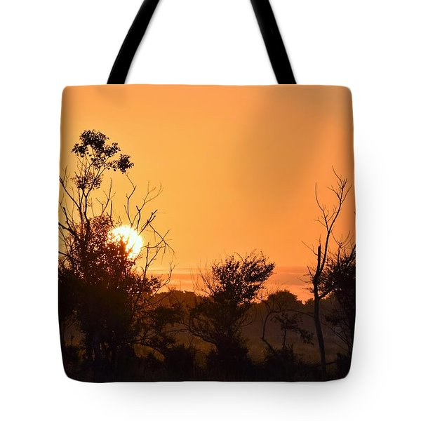 Sunrise Fenceline Tote Bag by John Glass