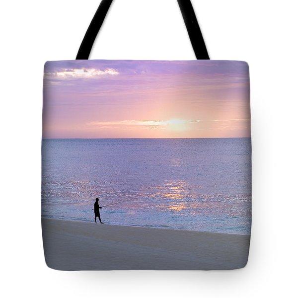 Sunrise Fisherman 2 Tote Bag