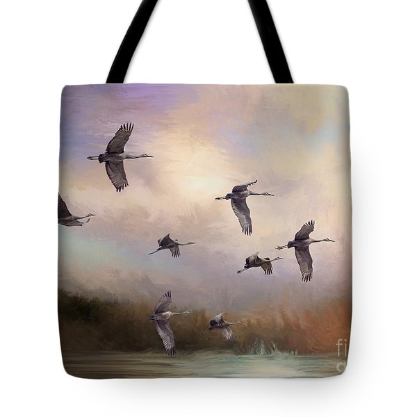 Sunrise Flight Tote Bag