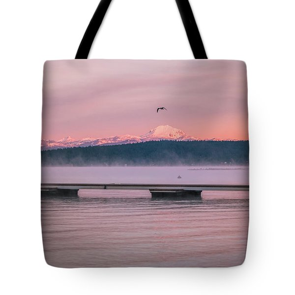 Tote Bag featuring the photograph Sunrise Fog by Jan Davies