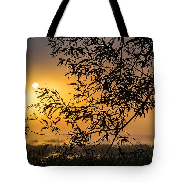 Sunrise Fog Tote Bag