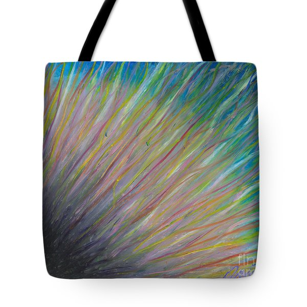 Tote Bag featuring the painting Sunrise For Jane by Ania M Milo