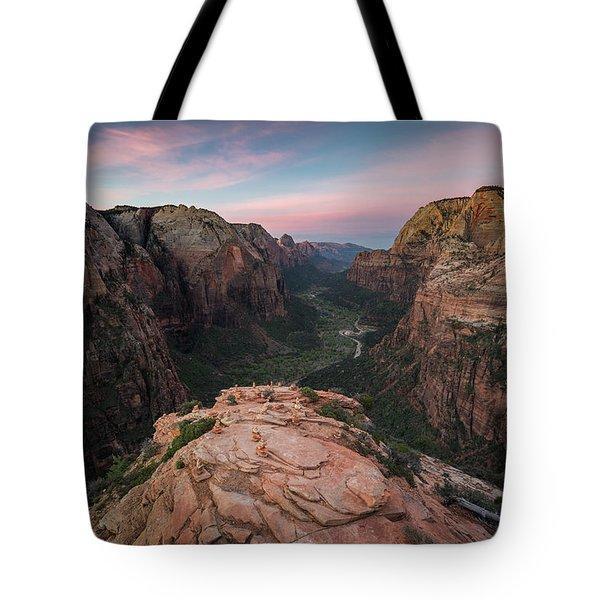 Sunrise From Angels Landing Tote Bag