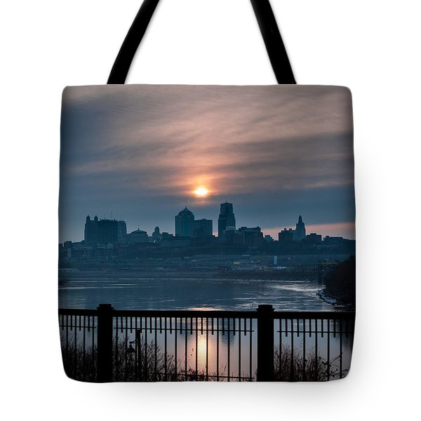 Sunrise From Kaw Point Tote Bag