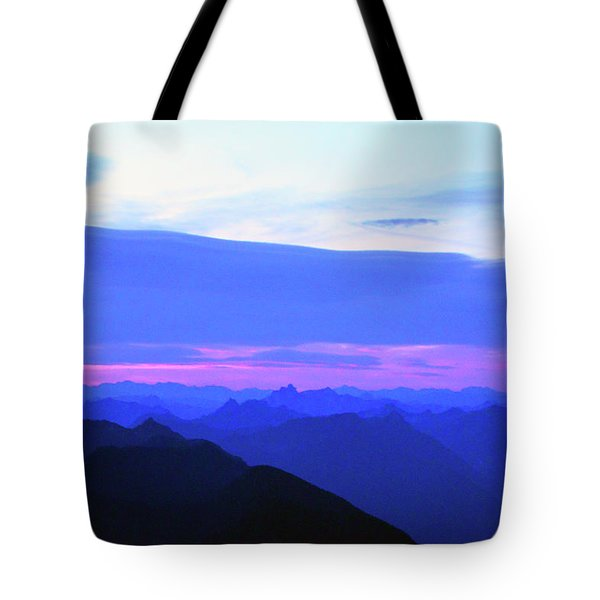 Sunrise From Pilchuck Summit Tote Bag