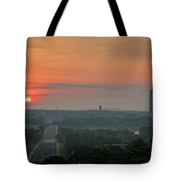 Sunrise From The Arlington House Tote Bag