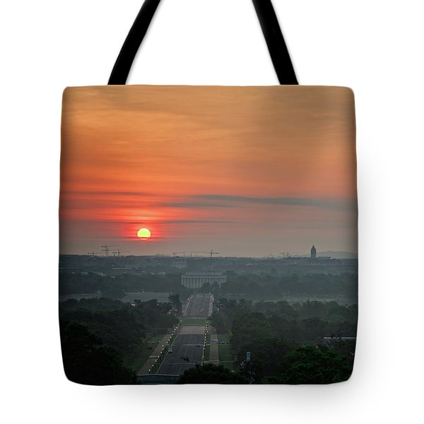 Sunrise From The Arlington House Tote Bag