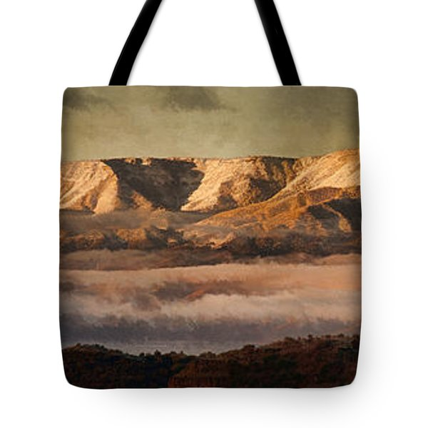 Sunrise Glow Pano Pnt Tote Bag