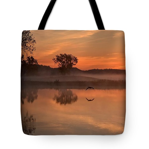Sunrise Goose Tote Bag