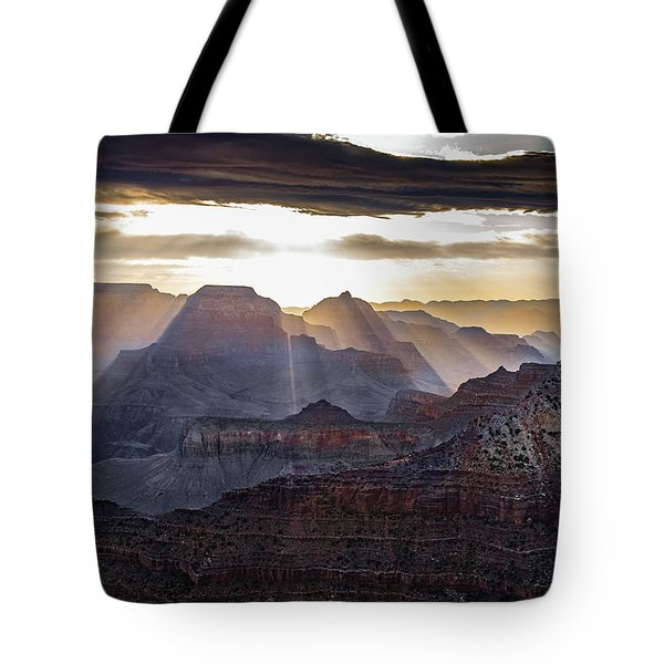 Tote Bag featuring the photograph Sunrise Grand Canyon by Phil Abrams