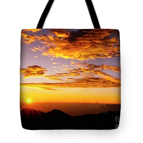 Maui Hawaii Sunrise Haleakala National Park Tote Bag