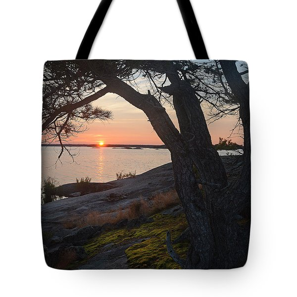 Sunrise Hopewell Island Tote Bag