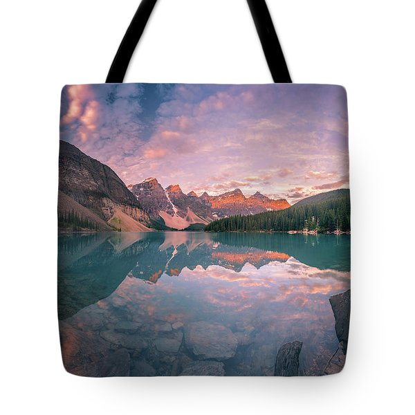 Tote Bag featuring the photograph Sunrise Hour At Banff by William Lee
