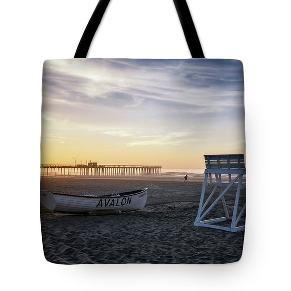 Sunrise In Avalon Tote Bag by Eduard Moldoveanu