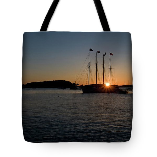 Sunrise In Bar Harbor Tote Bag