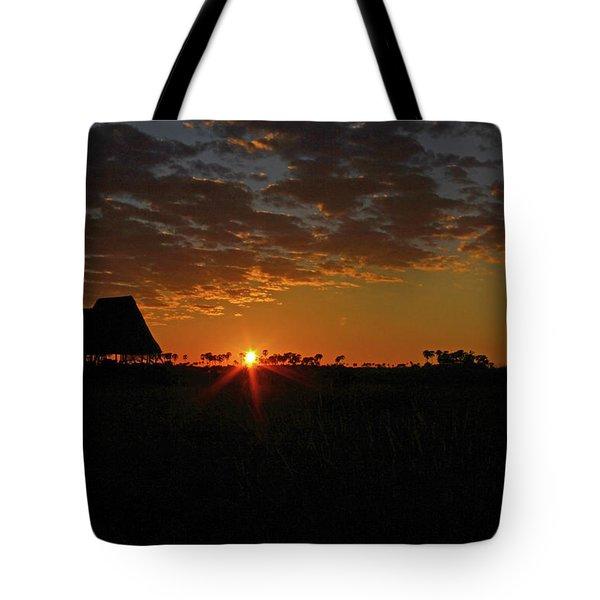 Sunrise In Botswana Tote Bag