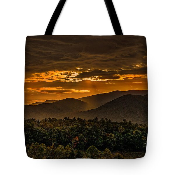 Sunrise In Cades Cove Great Smoky Mountains Tennessee Tote Bag